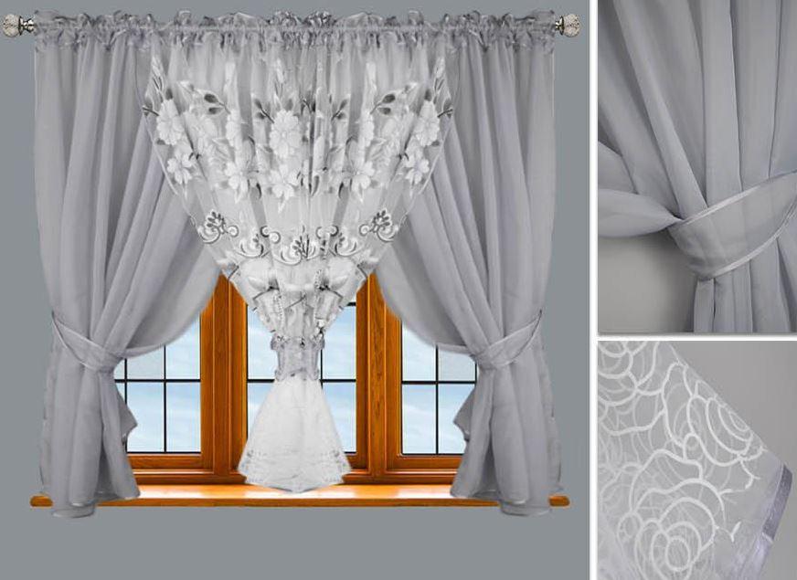 fertiggardine gardine 500x150 cm vorh nge moderne fenstergardine voile neu. Black Bedroom Furniture Sets. Home Design Ideas